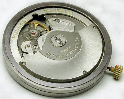 mechanism of Waltham watch (on the allegedly 100 jewels)