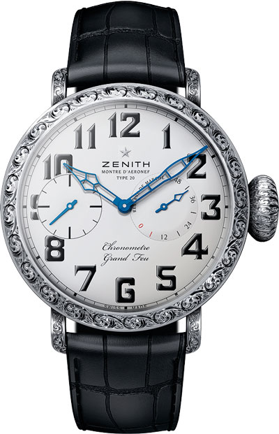 Pilot Type 20 Grand Feu Watches with Sapphire Case  by Zenith