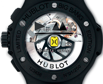 Big Bang Depeche Mode watch caseback