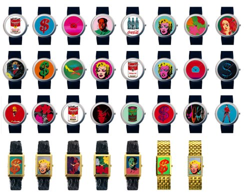 Bright Andy Warhole watches - the dream of every girl