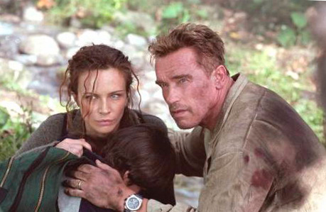 "Audemars Piguet Royal Oak Offshore watch with Schwarzenegger in the movie ""Collateral Damage"""