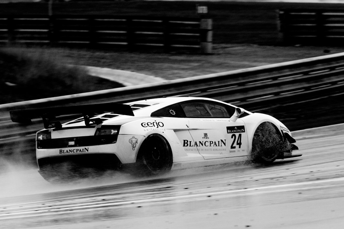 Blancpain Reiter car during the race