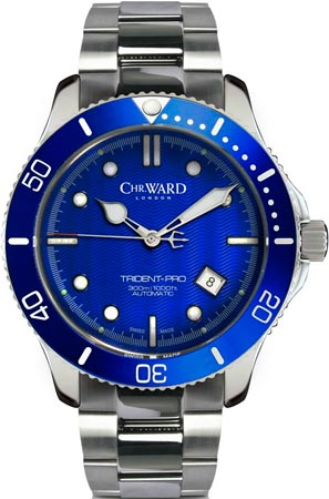C60 Trident Pro Blue watch by Christopher Ward
