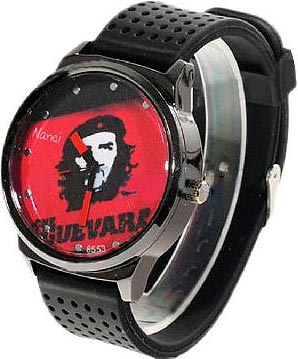 "Nanci watch with image of ""Che"" Guevara"