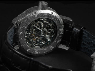 backside of Cornelius & Cie Tourbillon Dragon