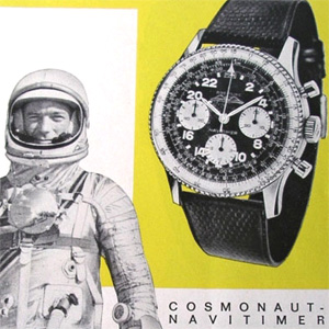 "Scott Carpenter and his ""Cosmonaute"" watch"