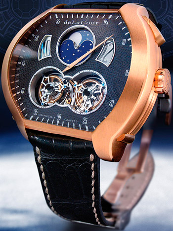 Christophe Claret DeLaCour Bitourbillon watch