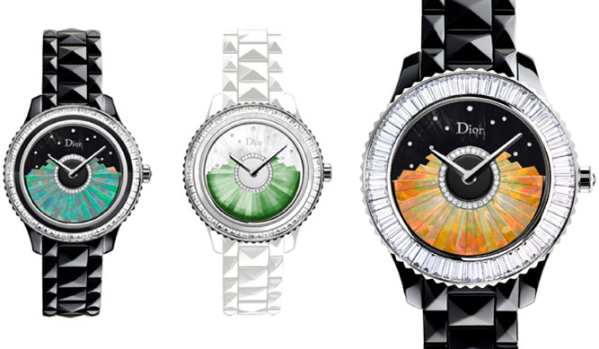 Grand Bal Plissé watch by Dior in versions with opal and jade