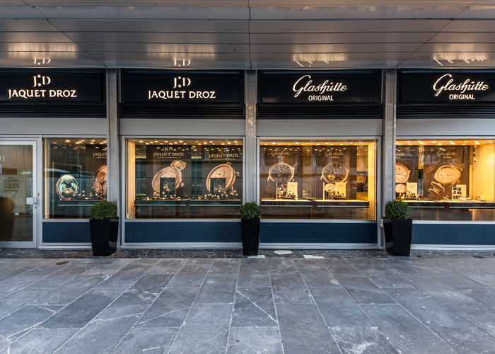 Joint Boutique of Glashütte Original and Jaquet Droz