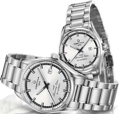 Certina DS-1 Automatic Anniversary Edition Pair watches