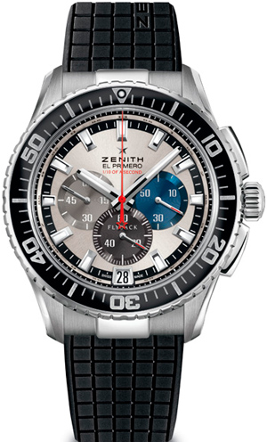 El Primero Stratos Flyback Stricking 10th watch by Zenith