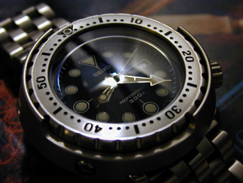 Seiko watch with Hardlex glass