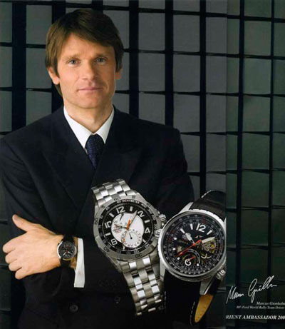 Marcus Gronholm with Orient watch