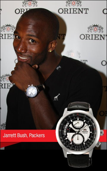 Jarrett Bush, Packers with Orient watch