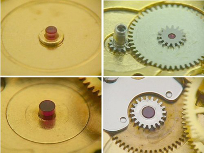 jewels in the watch mechanism