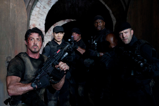 "frame of the film ""The Expendables"""