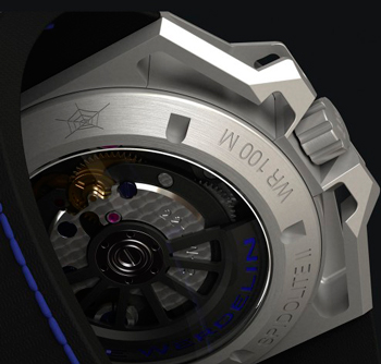 SpidoLite II Titanium Blue watch caseback