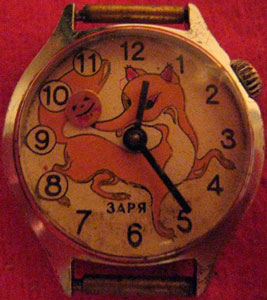 "The most famous Soviet children's watch ""Zarya"""