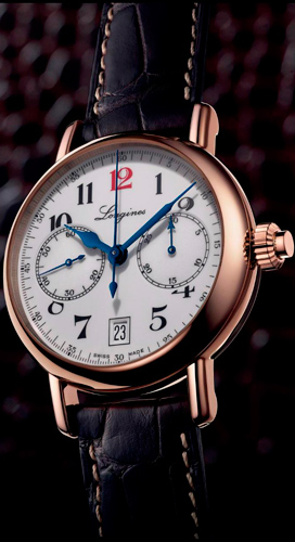 Column-Wheel Monopusher Chronograph watch by Longines