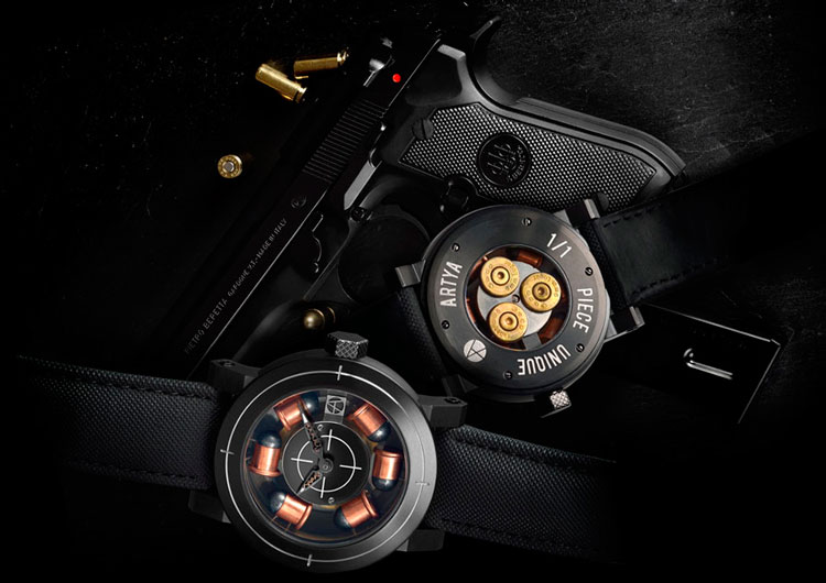 Artya Son of a Gun watch catches the eye of people who love guns