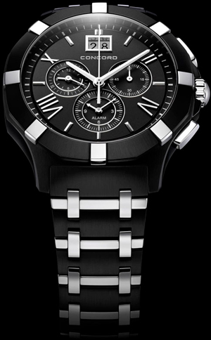 Concord Saratoga Chronograph Black PVD watch