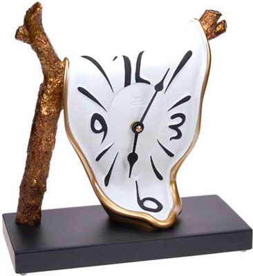 original desk clock Golden Time Oro-bianco