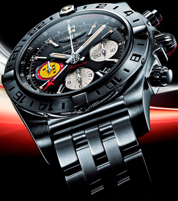 Breitling Chronomat 44 GMT Patrouille Suisse 50th Anniversary watch