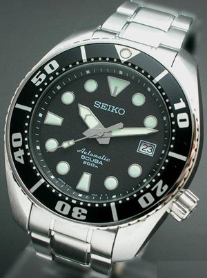Seiko watch with Sapflex glass