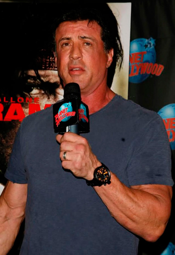 Sylvester Stallone with U-Boat watch