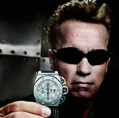 "Audemars Piguet Royal Oak Offshore watch with Schwarzenegger in the movie ""Terminator 3"""