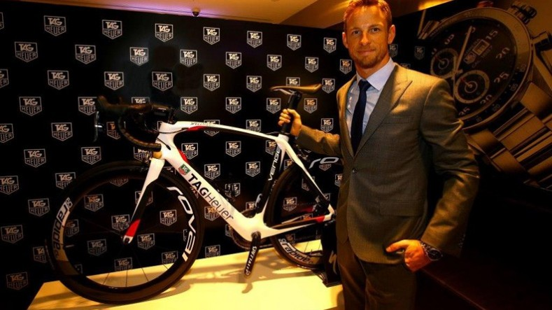 Jenson Button attends TAG Heuer's VIP cocktail in Melbourne
