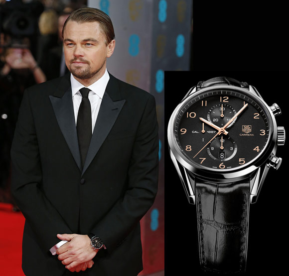 Leonardo DiCaprio with TAG Heuer Carrera Chronograph (Ref. CAR2014.FC6235)