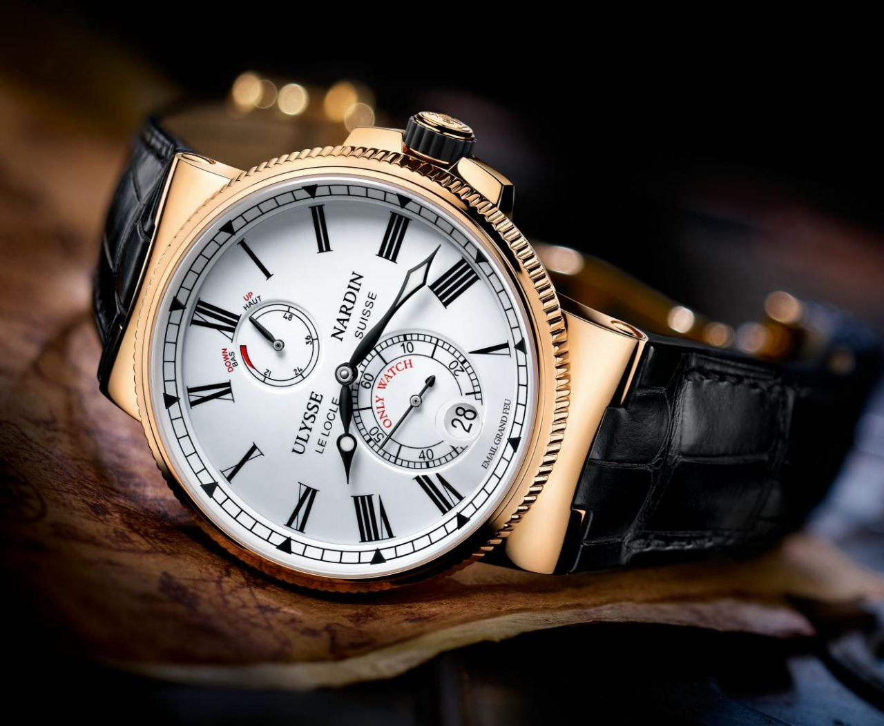 marine chronometer manufacture by ulysse nardin for only watch 2013. Black Bedroom Furniture Sets. Home Design Ideas