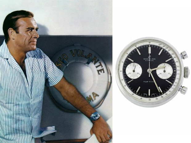 James Bond with Breitling Top Time watch