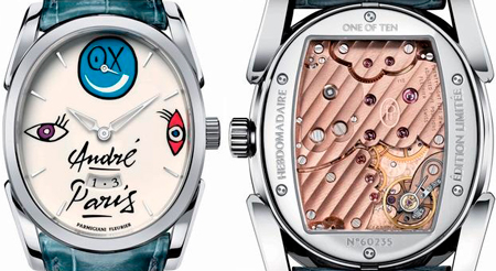 Ovale Mister A. watch by Parmigiani Fleurier in honor of Andre Saraiva