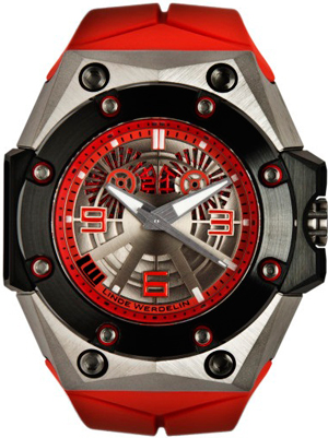 Oktopus II Double Date Titanium Red watch by Linde Werdelin