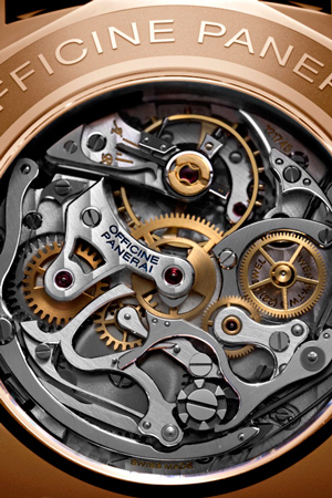 Caseback of Radiomir 1940 Chronograph PAM 519 watch