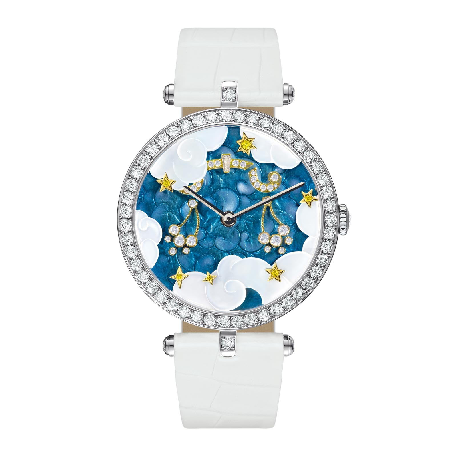 zodiac signs in new watch lady arpels zodiac by van cleef arpels. Black Bedroom Furniture Sets. Home Design Ideas