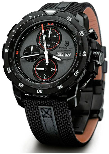 Victorinox Swiss Army Presents Novik Alpnach Black Ice Chronograph