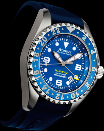 Azimuth Sea-Hum 3TZ (3Time Zone) watch