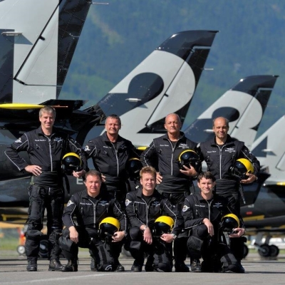 Breitling Jet Team performed at the MAKS in Zhukovsky