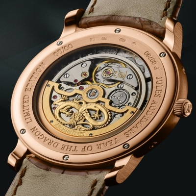 Jules Audemars Dragon Perpetual Calendar watch backside