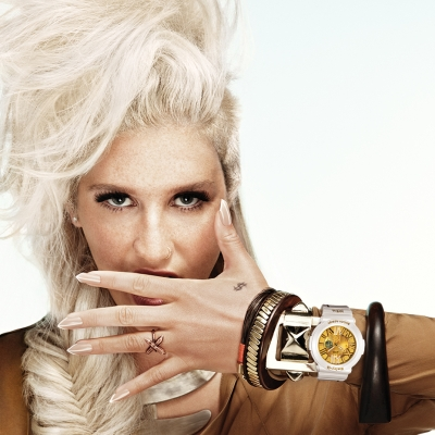 American singer Ke$ha with Baby-G BGA160KS-7B watch