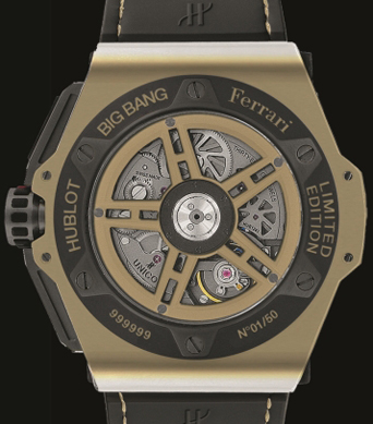 Big Bang Ferrari Magic Gold Watch China Limited Edition watch backside