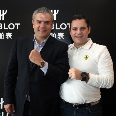 Ricardo Guadalupe, CEO of Hublot, Edwin Fenech, CEO of Ferrari Greater China