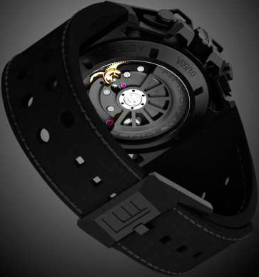 Black Diamond Chronograph watch backside