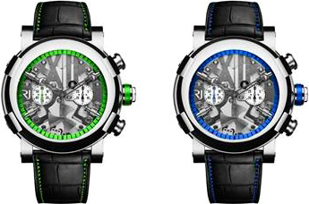 Steampunk Chrono Colours watches by RJ-Romain Jerome