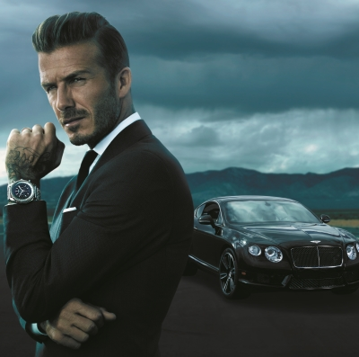 David Beckham - New Breitling for Bentley Advertising Campaign Face