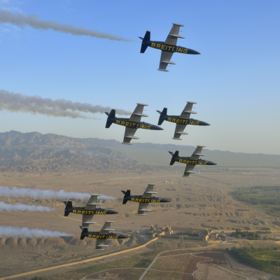 Breitling Flotilla Flew over China