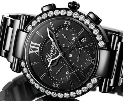 Imperiale Chrono All Black watch by Chopard
